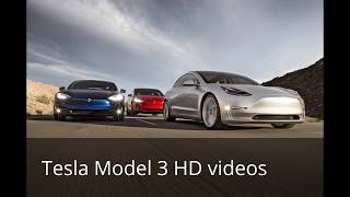 All HD videos Tesla Model 3 Silver, Red, Blue, White & Black Release Candidates