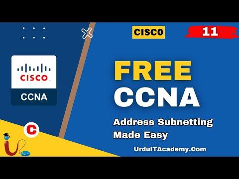 FREE URDU CCNA Lecture 11 (Subnetting)