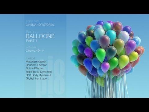 Cinema 4D Tutorial - Balloons: PART 1