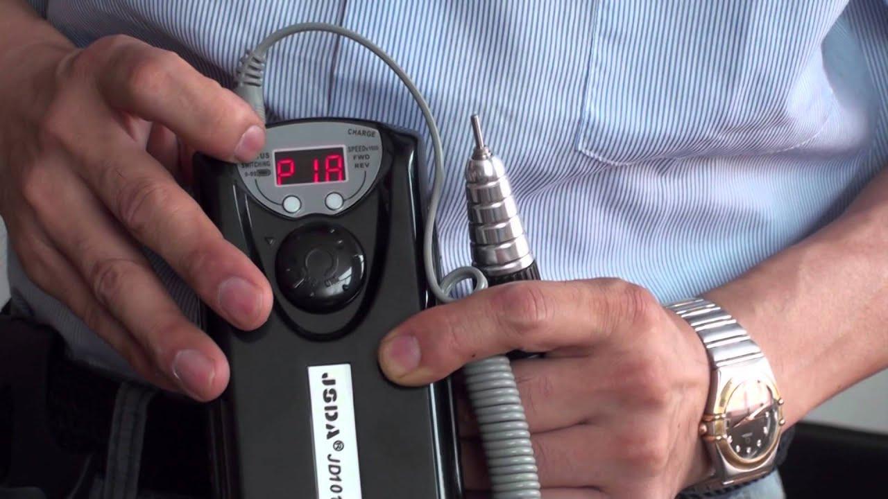 JSDA nail drill JD101-H - YouTube