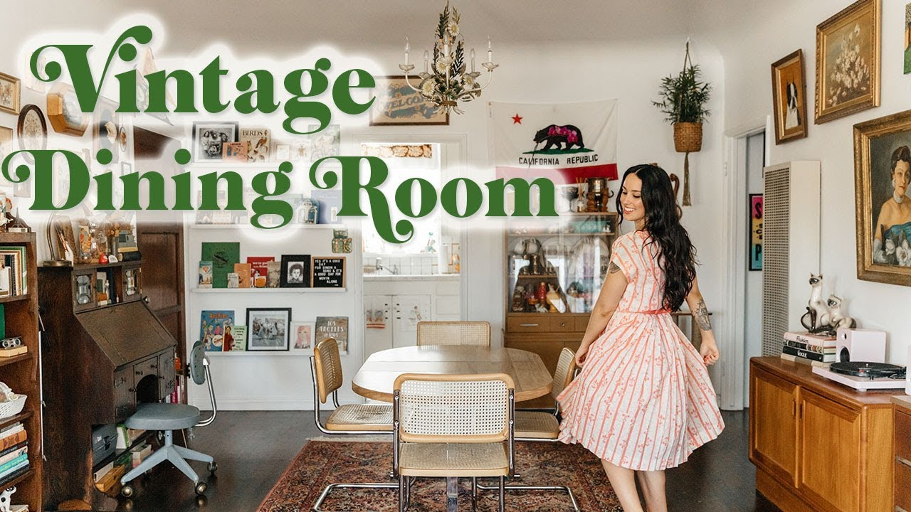 Mid-Century + Boho Dining Room Tour | Emily Vallely's ...
