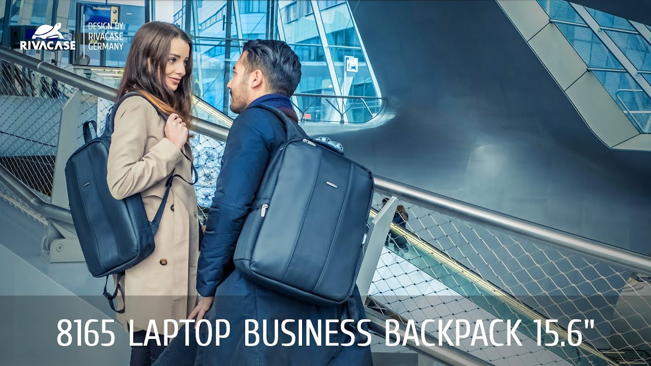 RIVACASE 8165 Laptop business backpack - YouTube 11fb35fb23