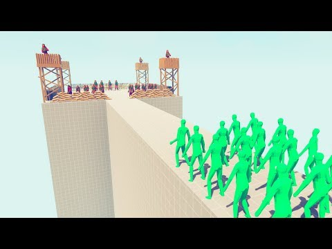 Modern Fort Vs Zombies In TABS Army - New Maps Test Totally Accurate Battle Simulator Challenge