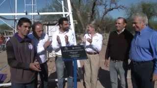 De la Sota inauguró obras en el paraje Los Medanitos