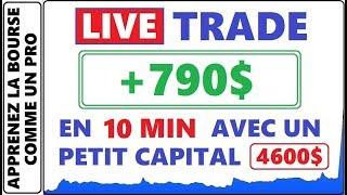 TRADE LIVE POUR 790$ DE PROFIT EN 10 MINUTES AVEC UN PETIT CAPITAL. COMMENT SCALPER LES PENNY STOCKS