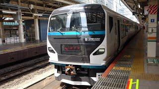 JR東日本E257系2000番台特急踊り子13号伊豆急下田行き 東京駅発車