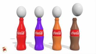 Colors For Children To Learn With Easter Eggs Coca Cola   Teach Kids Colors With Surprise Eggs