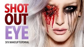 Shot out eye sfx makeup tutorial (TWD spoiler)