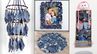 7 Old Jeans Recycle Ideas !!! Old Clothes Reuse