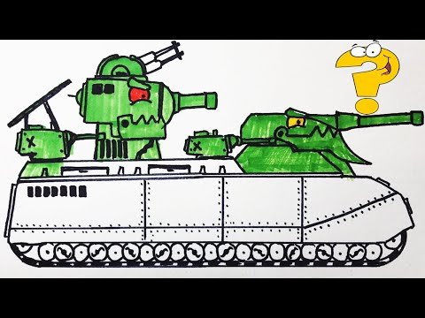 Cách vẽ xe tăng Рatte + КВ 6 для мультики про танки