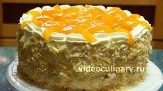 бисквитный торт рецепт с видео