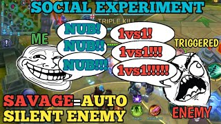 ML SOCIAL EXPERIMENT | STARTING A TRASHTALK GONE WRONG | MOBILE LEGENDS