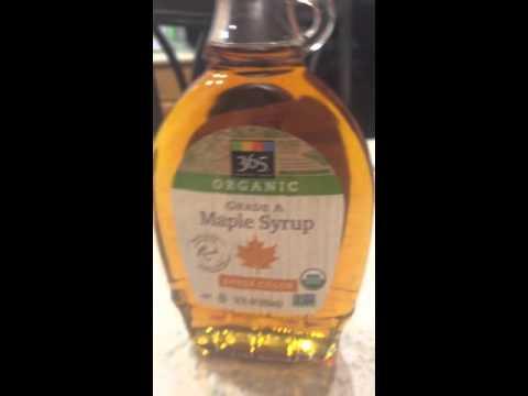 Aunt Jemima Syrup v.s. Organic Maple Syrup ;)