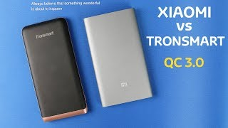 Tronsmart Trim VS Xiaomi Mi Power Bank Pro. Обзор пауэр-банков на 10 000 мАч с QC 3.0