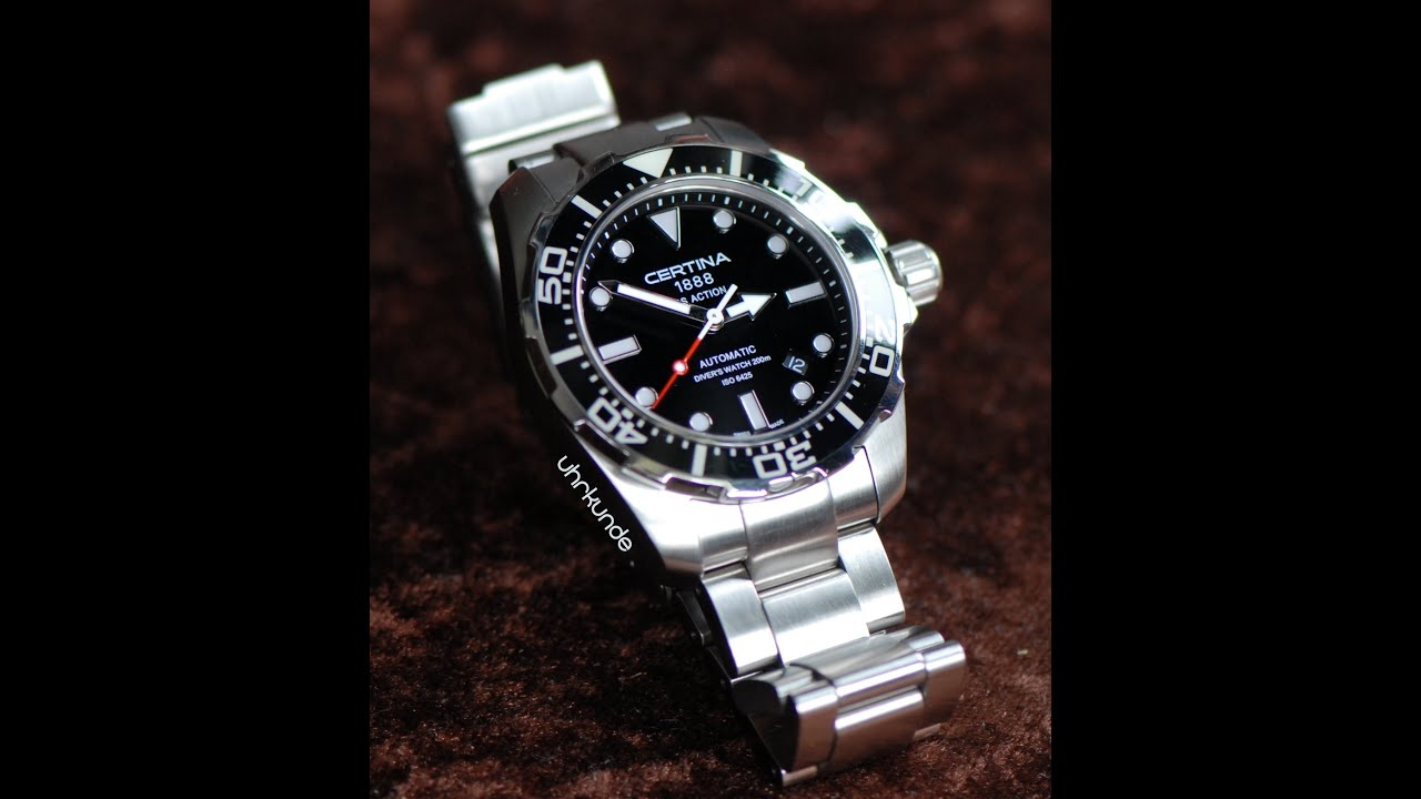 action s ds iso en watch diver men watches mens certina