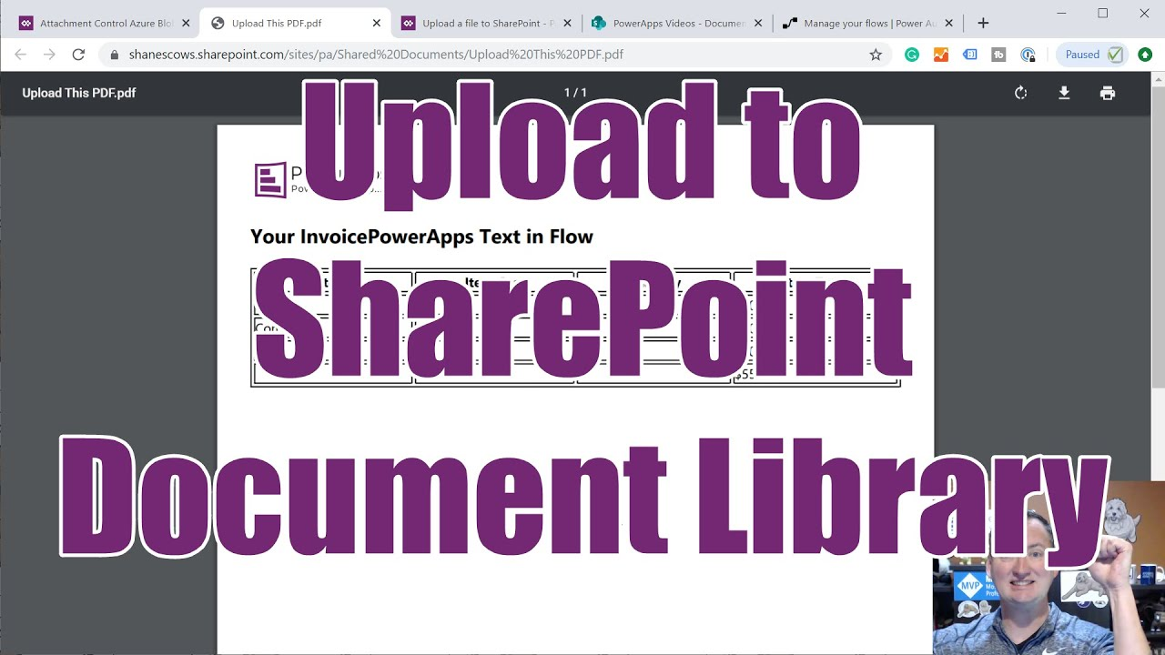 Use Power Apps to upload a file to a SharePoint document library