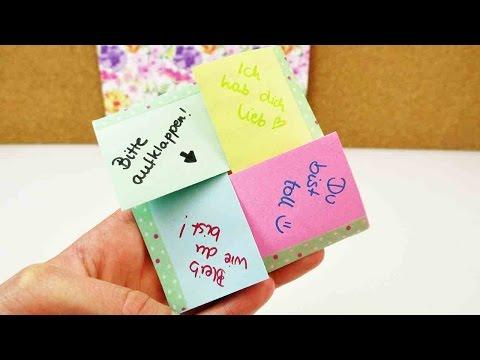 DIY Brief zum Ausklappen | kreativen Brief selber machen | Liebesbrief & Geburtstags Überraschung