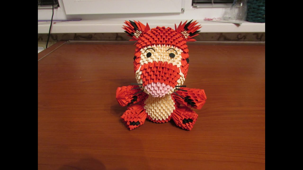 3D Origami Tigger Tutorial - Part 2 - YouTube - photo#47