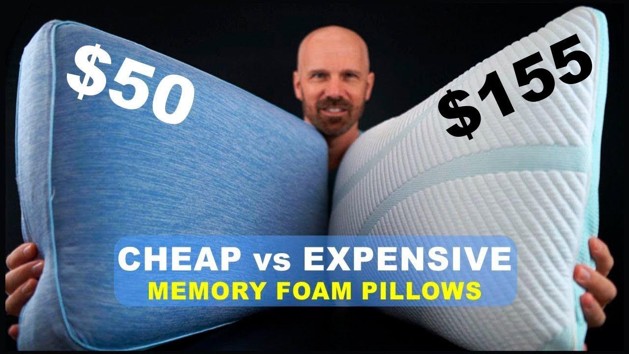 cheap vs expensive memory foam pillows beautyrest vs tempur pedic