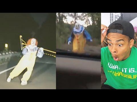 KILLER CLOWN PRANK Scariest Clown Sighting Compilation