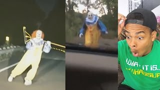 KILLER CLOWN PRANK Scariest Clown Sighting Compilation