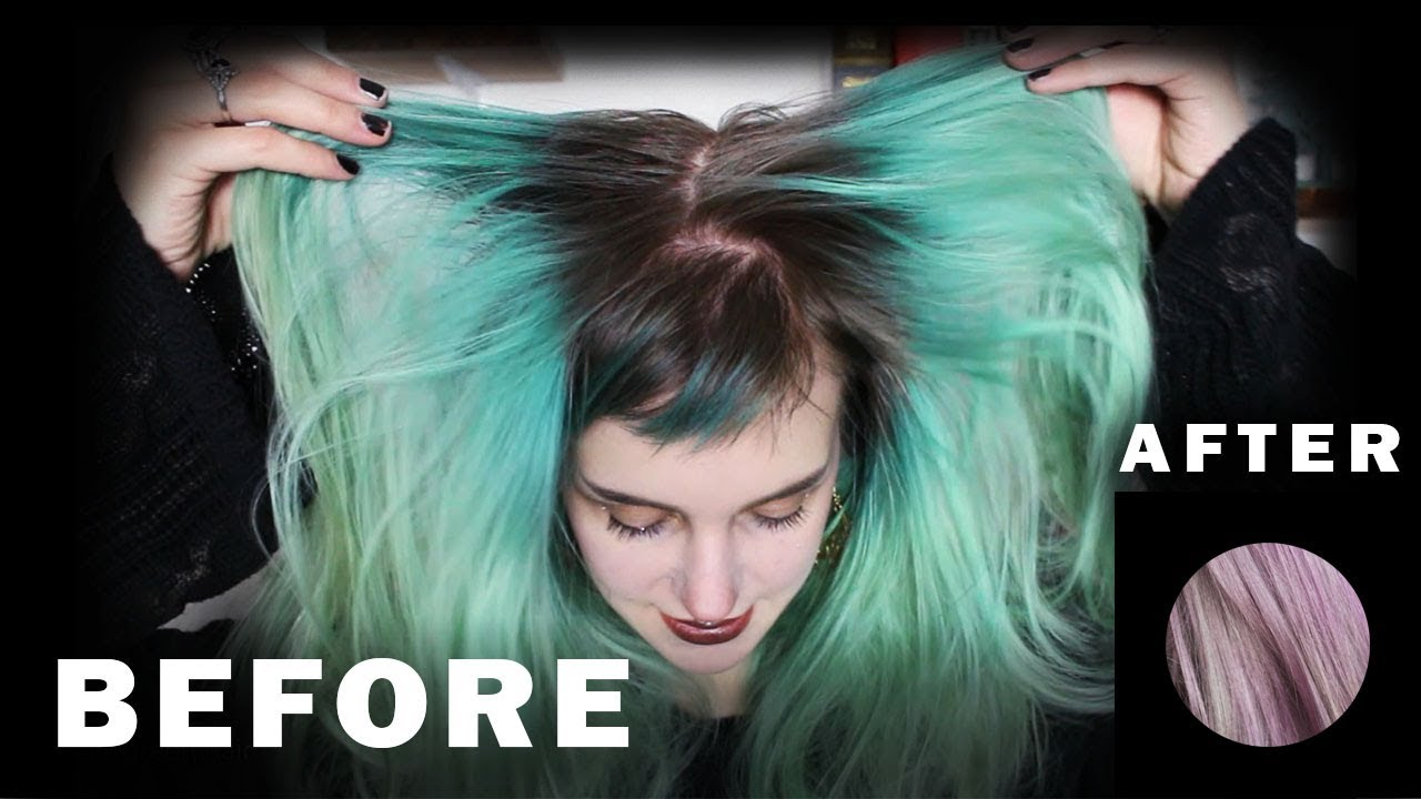 How To Get Rid Of Green Hair Without Bleach Manic Moth Youtube