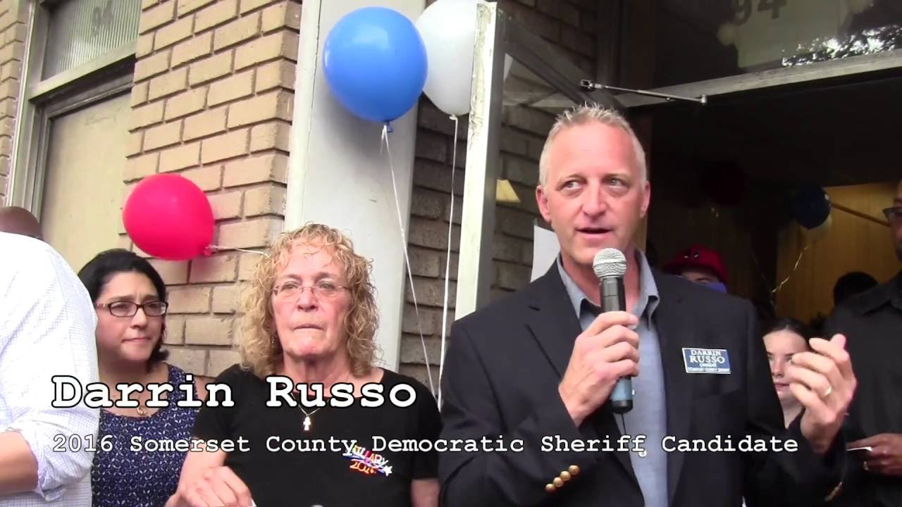 Somerset County, NJ Dems HQ Opening Darrin Russo for County Sheriff 8-6-16
