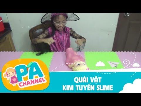 Cách làm chất nhờn ma quái Slime kim tuyến | Con gái Bạch tuyết bị bắt cóc | PA channel