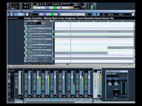 Cubase 5 practice - Making Music in the Vengeance Trance Sensation Sound Source File