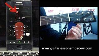 Как настроить гитару за 2 минуты, настройка через телефон тюнером