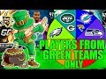 SPIN THE WHEEL OF PLAYERS FROM GREEN TEAMS ONLY! Madden 19 Ultimate Team Squad Builder