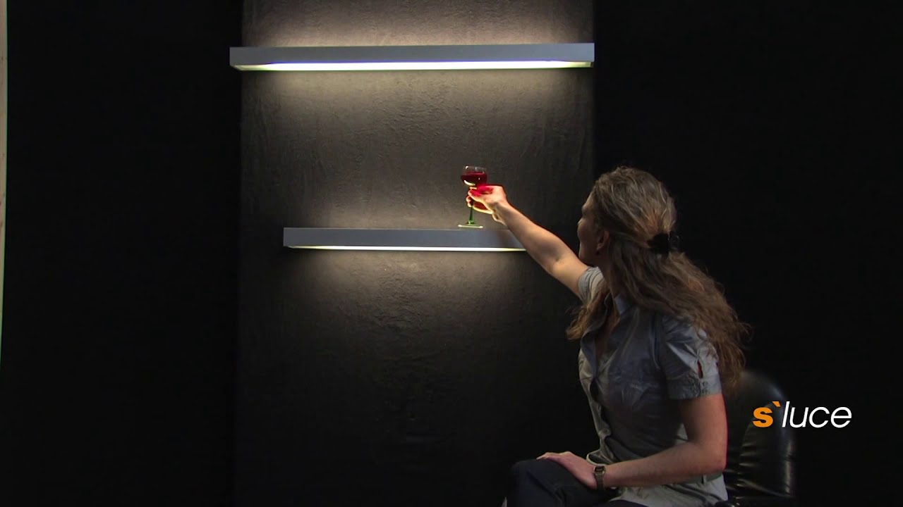s´luce CUSA Lichtboard Wandregal, Licht-Design Skapetze - YouTube