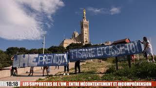 Marseille : des supporters de l'OM déploient une banderole contre Eyraud à Notre-Dame de la Garde