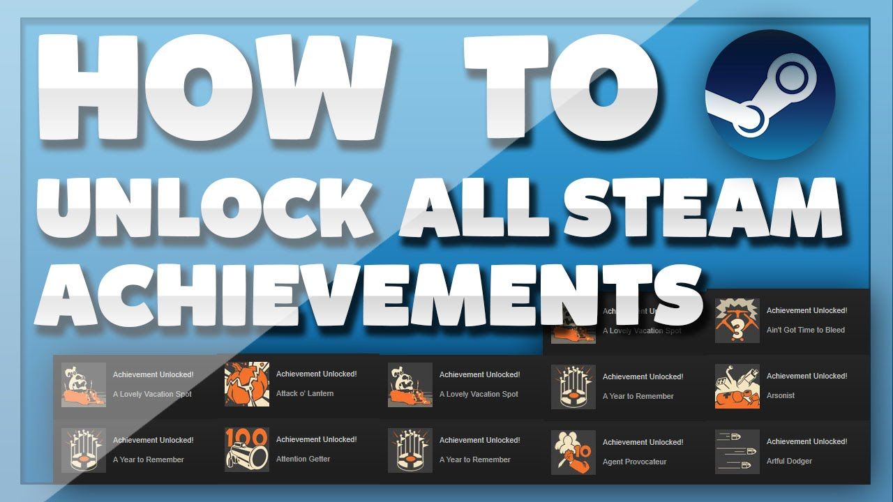 How To Unlock ALL Steam Achievements For FREE Working