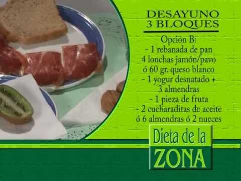 Menus dieta de la zona 11 bloques