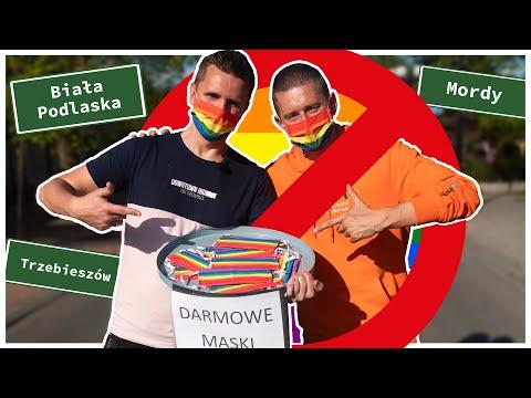 """Rozdajemy tęczowe maski w """"strefach wolnych od LGBT"""""""