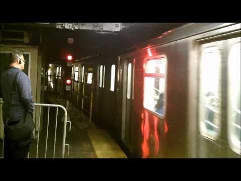 Noisy NYC Subway 5 Train Entering 149 Street -- Grand Concourse Station