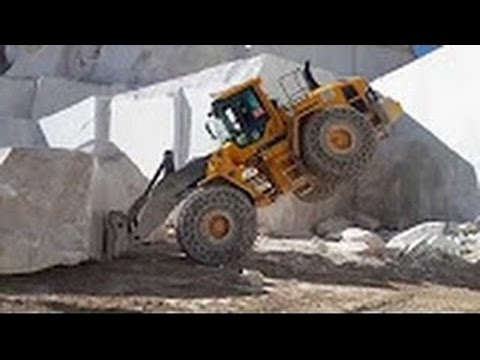 Big Fail Heavy Equipment Mega Machines Marble and Granite Mining: Excavator, Loader, Bulldozer, Trac