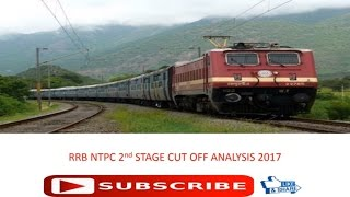 rrb ntpc 2nd stage cut off analysis