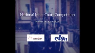 NATIONAL MOOT COURT COMPETITION Belgium 2018