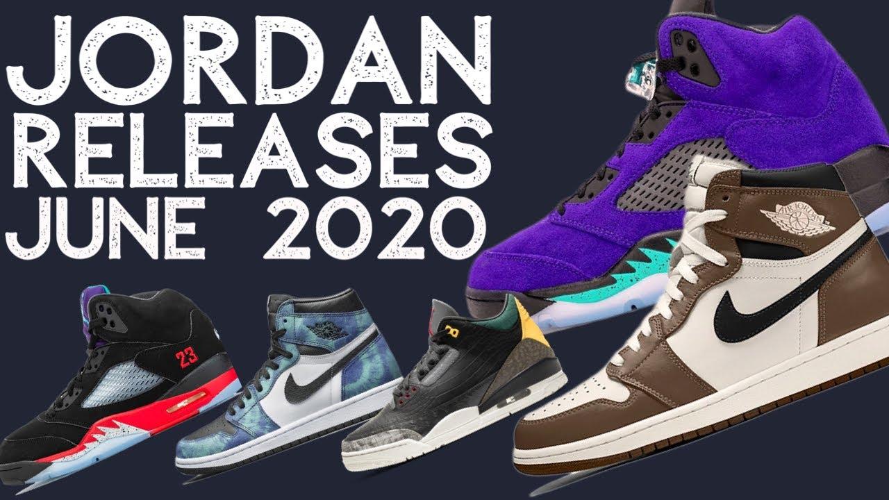Upcoming AIR JORDANS in JUNE 2020
