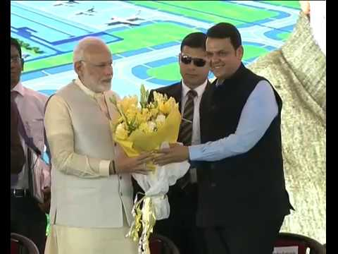 PM Modi lay the foundation of the Navi Mumbai Airport in a Ground Breaking Ceremony