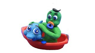 Baby Video Cartoons - Green Baby Compilation 85 to 94Ep. - Play Doh Baby Stop-Motions