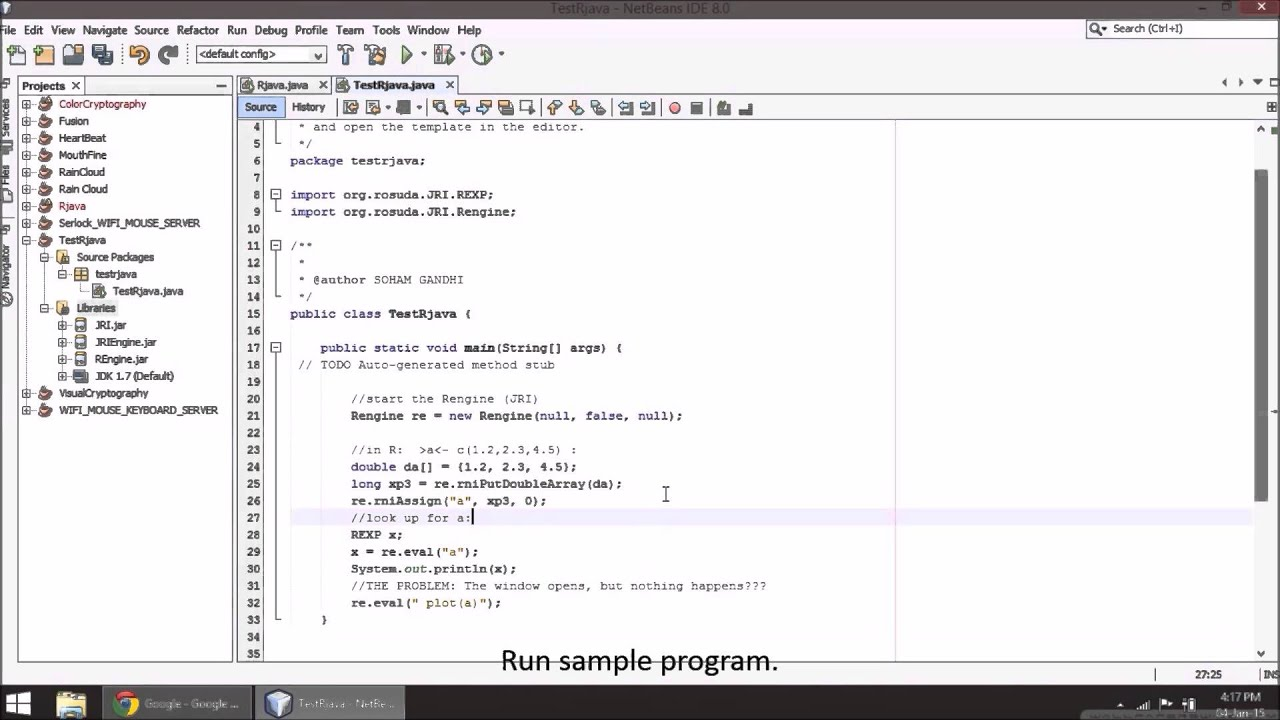 how to write program in r language