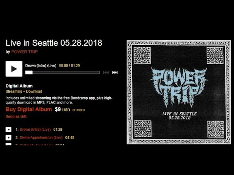 """Power Trip release new live album """"Live In Seattle 05.28.2018"""" ..!"""