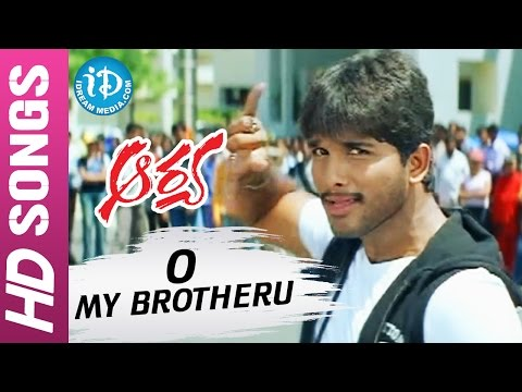 Arya Telugu Movie  O My Brotheru  song  Allu Arjun  Anu Mehta  Sukumar