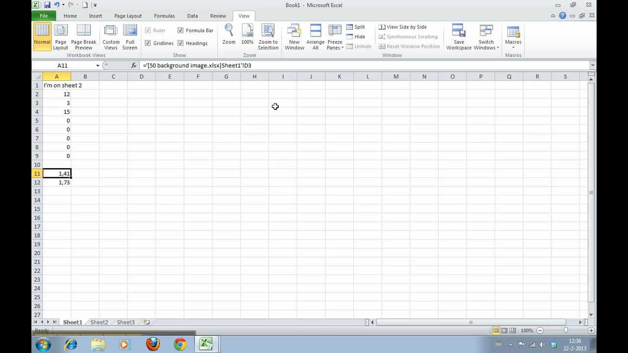 How to Create a Cell Reference to another Worksheet or another ...