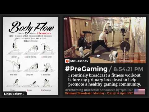 #PreGaming: DAREBEE Body Flow #Yoga Workout 💪