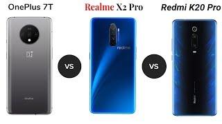 Oneplus 7t Vs Realme X2 Pro Vs Redmi K20 Pro - Full Speed Comparison  2019