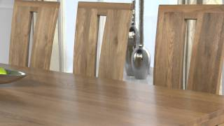 Large Solid Oak Dining Table And Oak Chairs